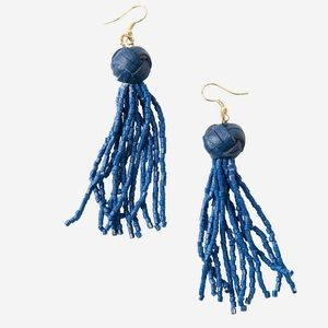 Noonday Collection Blue Tassel Agra Earrings